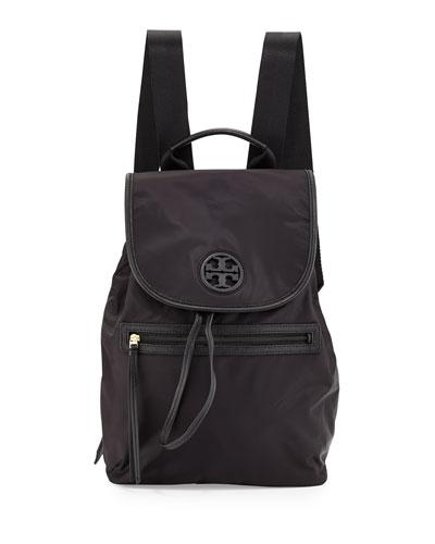 Slouchy Nylon Backpack, Black