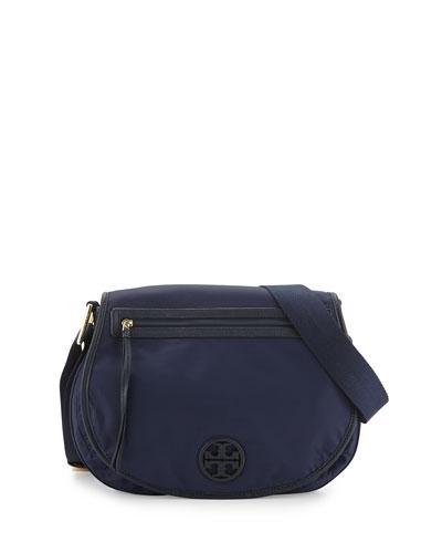 Nylon Messenger Bag, Tory Navy