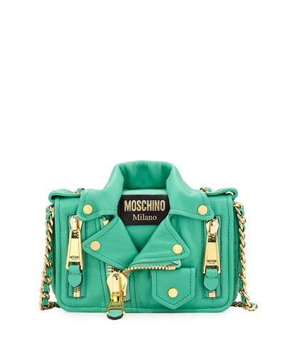 Moto Jacket Shoulder Bag, Green