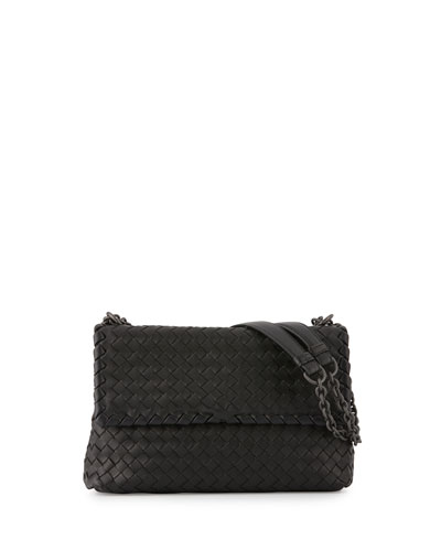Olimpia Small Shoulder Bag, Black
