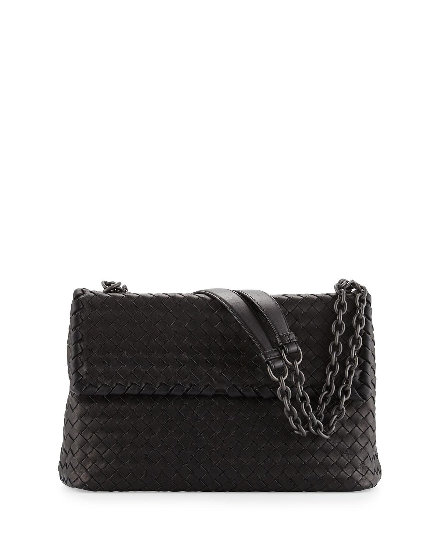Olimpia Medium Shoulder Bag, Black