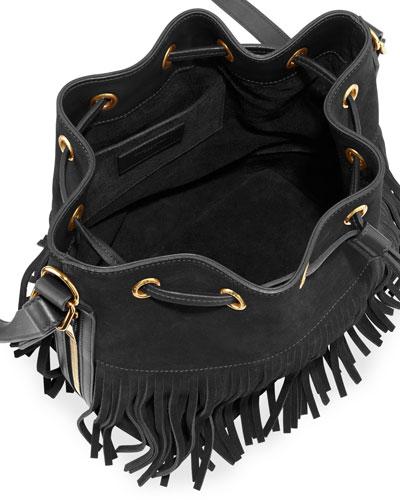 handbag ysl - Saint Laurent Drawstring Fringe Bag | Neiman Marcus