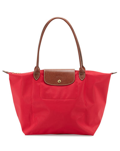 Le Pliage Large Shoulder Tote Bag, Red Garance