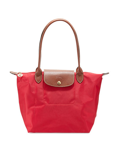 Le Pliage Medium Shoulder Tote Bag, Red Garance