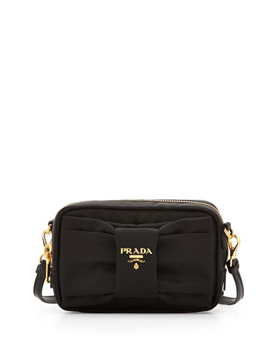Nylon Bow Camera Bag, Black (Nero)