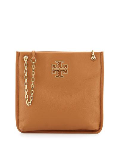 Britten Swingpack Leather Bag, Bark