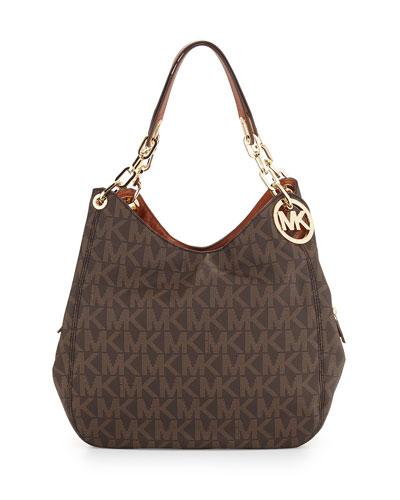 Fulton Large Tote Bag, Brown