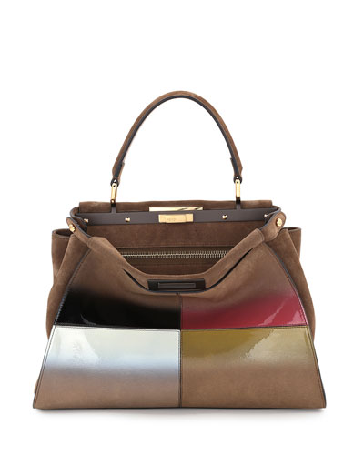 Peekaboo Medium Gradient Satchel Bag