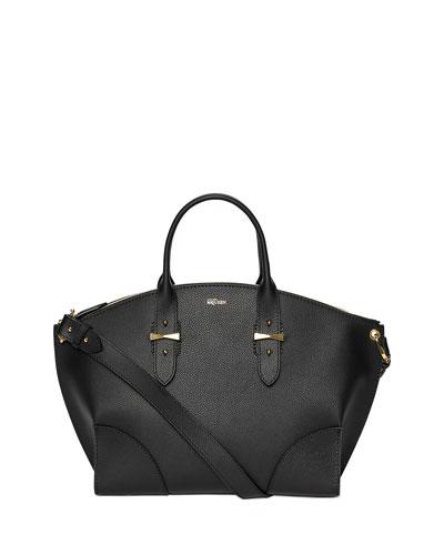 Legend Leather Satchel Bag, Black
