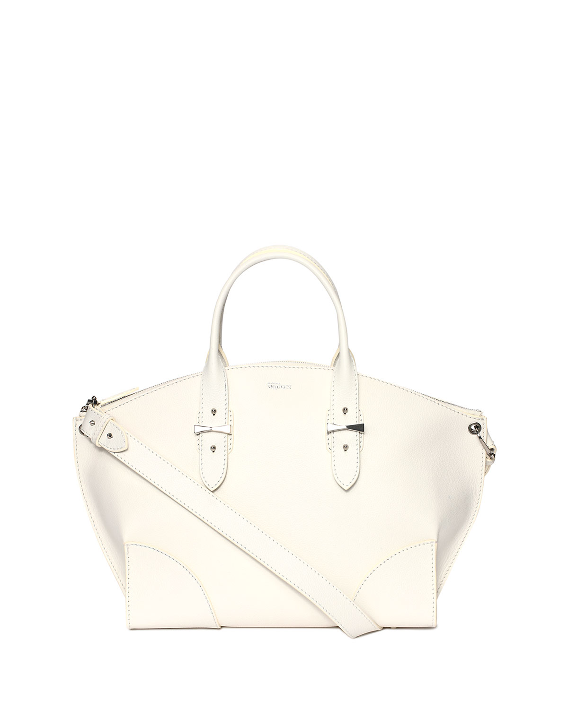 Legend Leather Satchel Bag, White