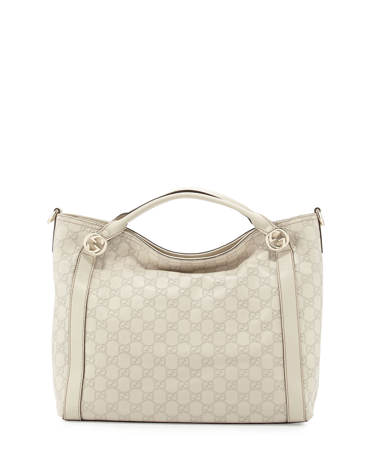 Miss Guccissima Large Top Handle Bag, White