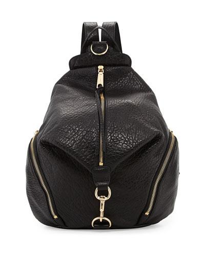Julian Leather Backpack, Black