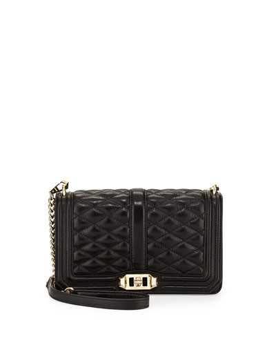 Love Quilted Leather Crossbody Bag