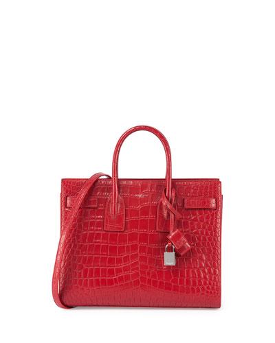 Sac de Jour Crocodile-Stamped Satchel Bag