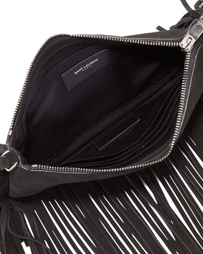 yves saint laurent blue - Crossbody Fringe Handbag | Neiman Marcus | Crossbody Fringe Purse