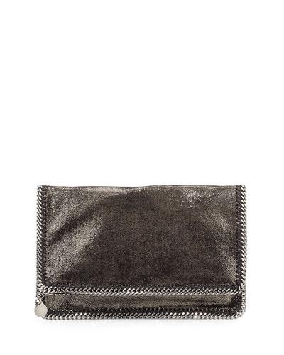 Falabella Fold-Over Evening Clutch Bag, Gray