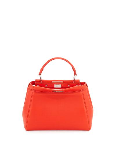 Peekaboo Mini Satchel Bag, Poppy