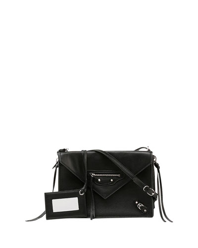 Papier Triple XS Envelope Crossbody Bag, Black