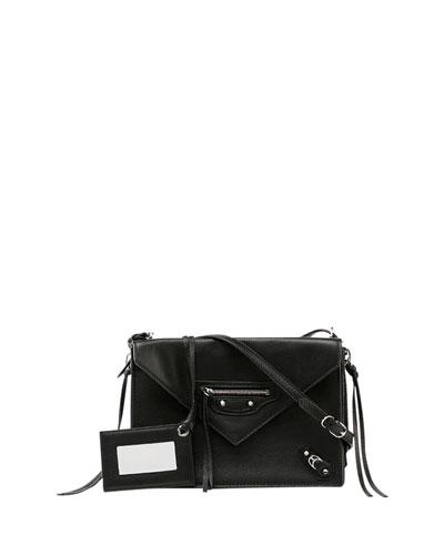 Papier Triple XS Envelope Crossbody Bag, Black