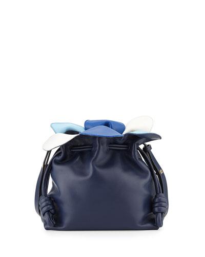Flamenco Small Petal Bag, Navy Multi