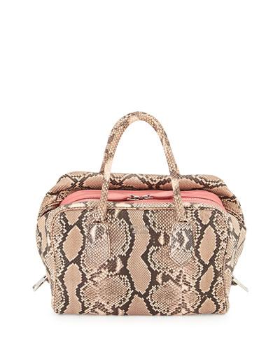 Medium Python Inside Bag, Light Pink/Dark Pink (Pesca+Tamaris)