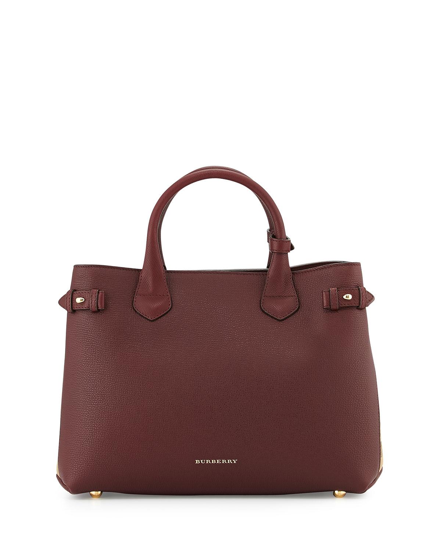 Horseshoe Leather House Check Shoulder Bag, Mahogany Red