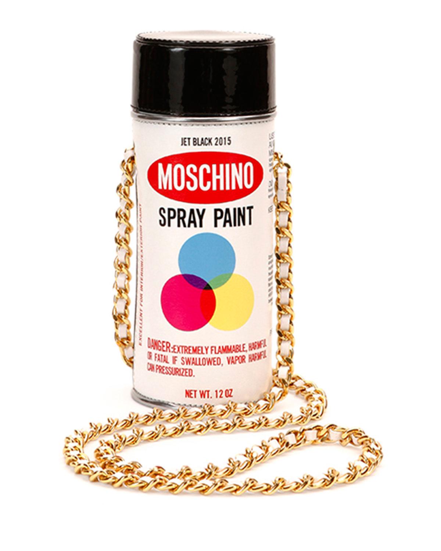 Spray Paint Shoulder Bag, White Multi
