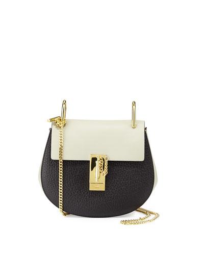 Drew Small Shoulder Bag, Black/Gray