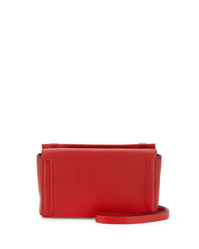 Aston Leather Mini Crossbody Bag, Red