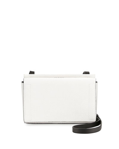 Aston Mini Crossbody Bag, White Crackle