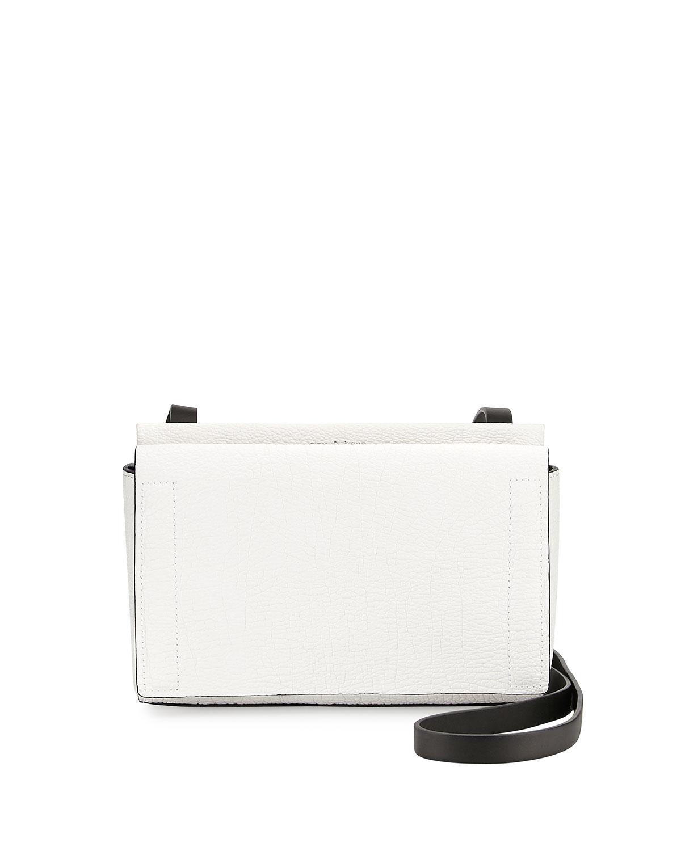 Aston Mini Crossbody Bag, White Crackle