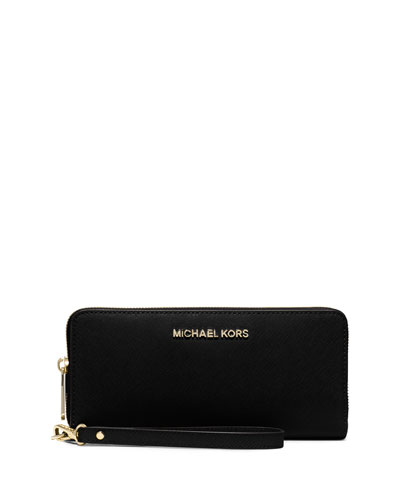 Jet Set Travel Continental Wallet, Black