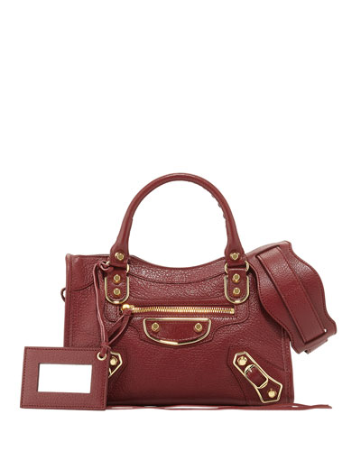 Edge City Mini Goatskin Satchel Bag