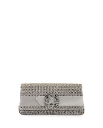 Gothisi Woven Buckle Clutch Bag, Bronze