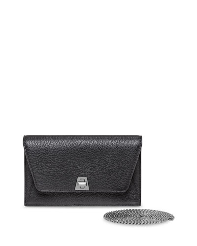 Anouk  Leather Clutch Bag w/Chain