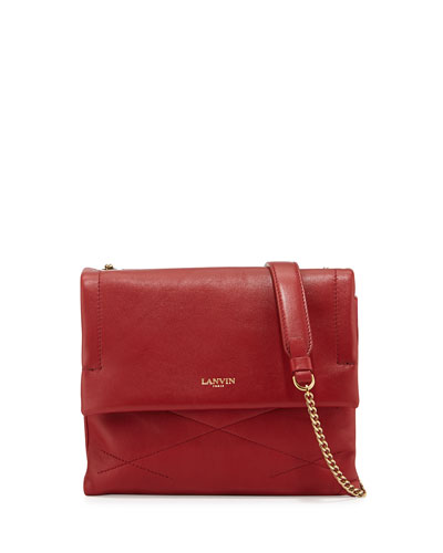 Sugar Mini Lambskin Shoulder Bag, Red