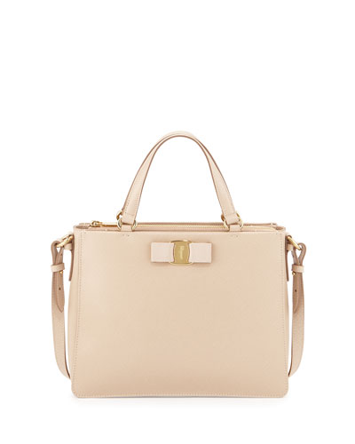 Tracy Vara Saffiano Tote Bag, New Bisque