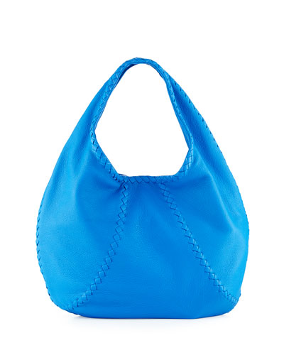 Cervo Large Hobo Bag, Cobalt
