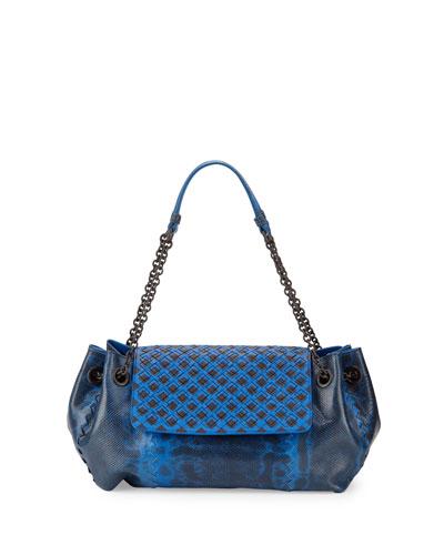 Karung Small Shoulder Bag, Cobalt/Black