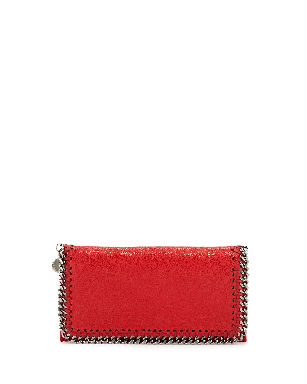 Falabella Chain Flap Wallet, Bright Purple