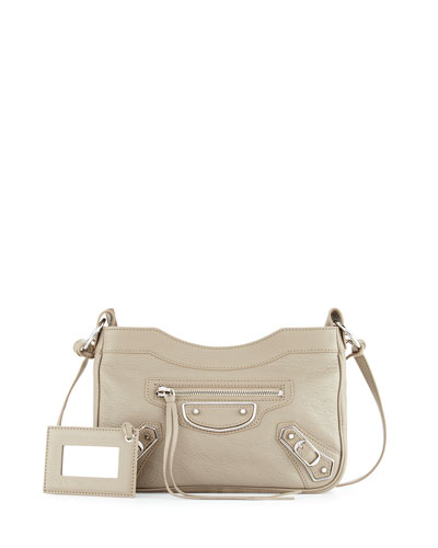 Metallic Edge AJ Crossbody Bag, Taupe