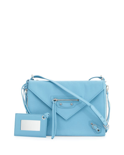 Paper Zip-Around Triple Bag, Bright Blue