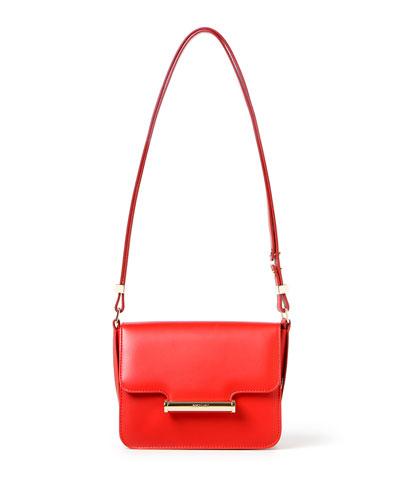 Diane Mini Saddle Crossbody Bag, Red