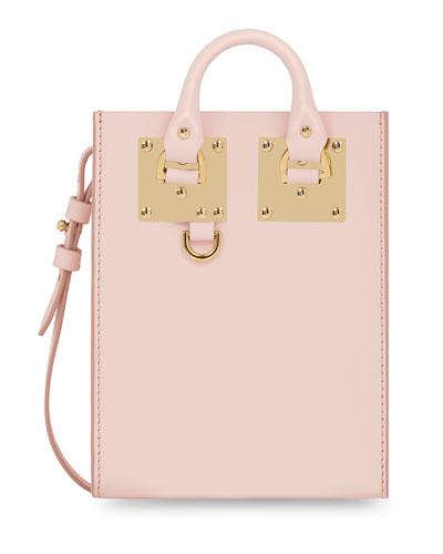 Nano Albion Leather Crossbody Bag, Blossom Pink