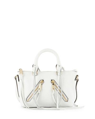 Micro Moto Satchel Bag, White