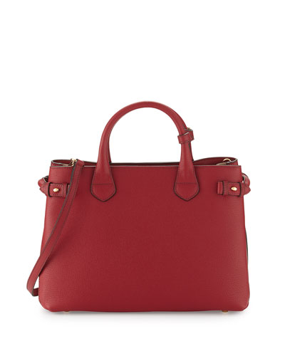 Banner Medium House Check Derby Tote Bag, Russet Red