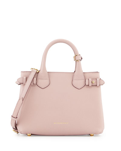 Small Banner House Check Derby Tote Bag, Pale Orchid