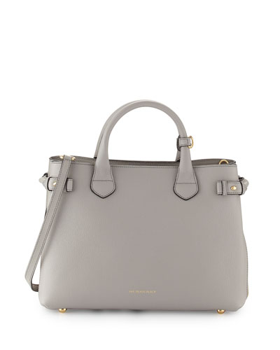 Banner Medium House Check Derby Tote Bag, Light Gray Melange