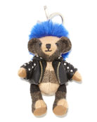 Thomas Punk Check Teddy Bear Purse Charm, Camel