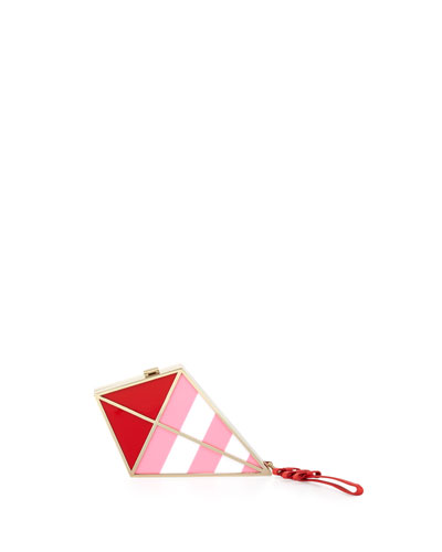go fly a kite wristlet clutch bag, cherry liqueur